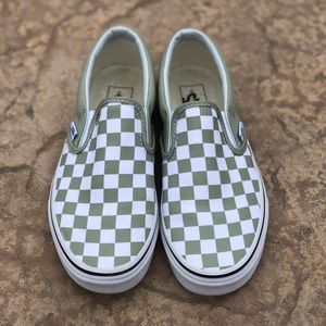 Mint Checkered Vans